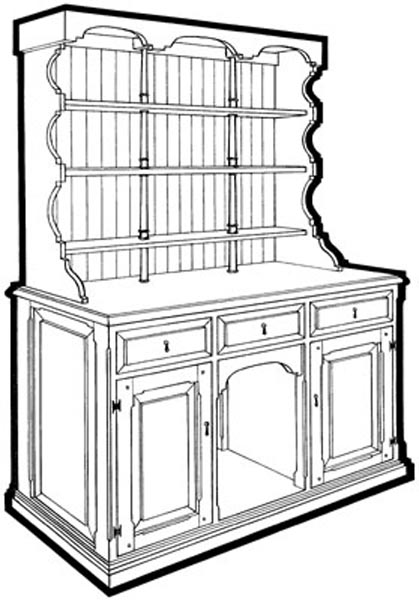 plans kitchen dresser