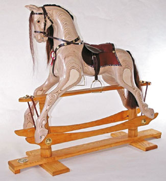 laminated plywood rocking horse plans